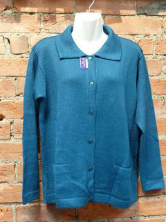 Alpaca Jersey with collar, buttons and pockets
