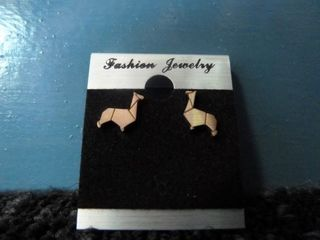 Bronze Alpaca Stud Earrings