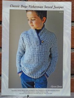 Classic Boys Fisherman Tweed Jumper