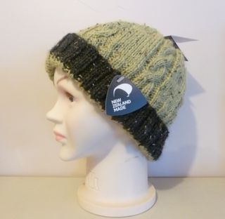 Inca Spun Tweed Cable Beanies