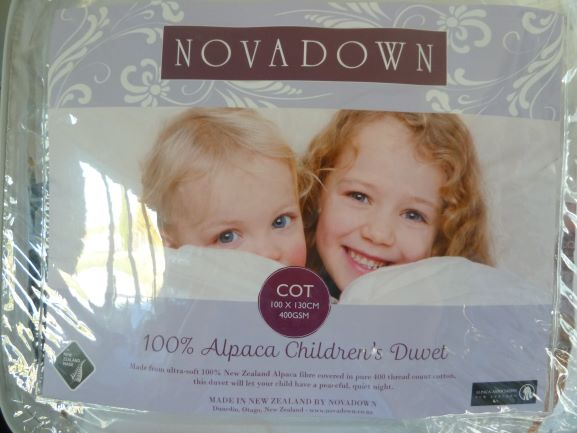 100% Alpaca Filled Cot Duvet