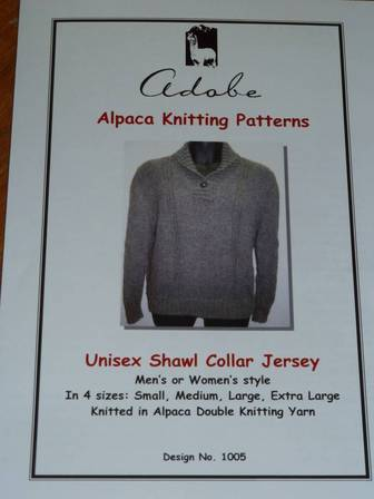 Unisex Shawl Collar Jumper