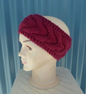 Cable Ear Warmers Handmade